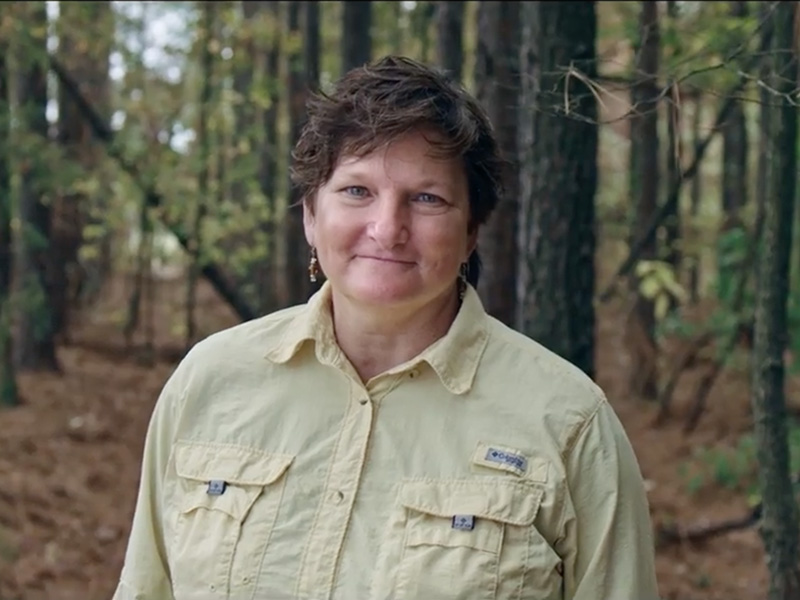 Donna Janssen forest caretaker