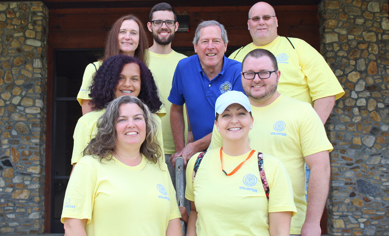Domtar Volunteers at a Camp for Adults with Disabilities