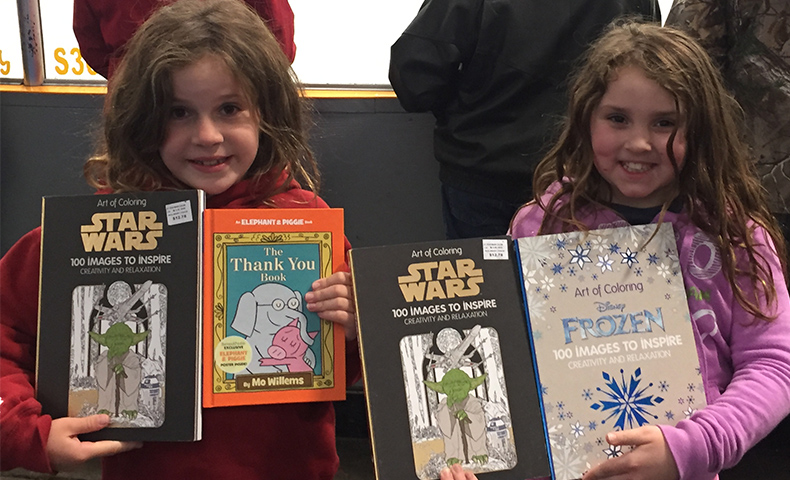 Domtar sponsored a book giveaway with the Dryden Ice Dogs