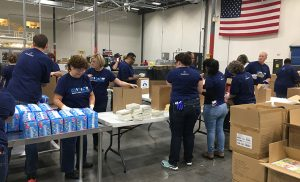 Domtar colleagues assemble baby care packages