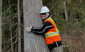 Alexandra Cooper is studying forestry