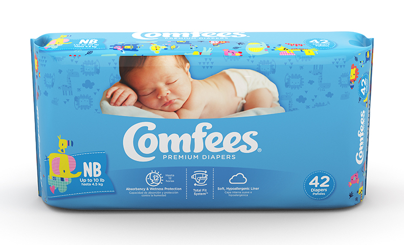 Comfees diaper innovations reduce costs, keep baby dry