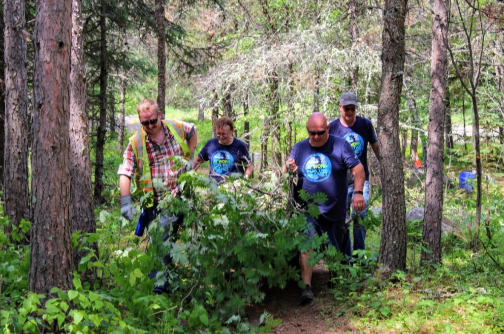 SCA clean up brush at Lions Park
