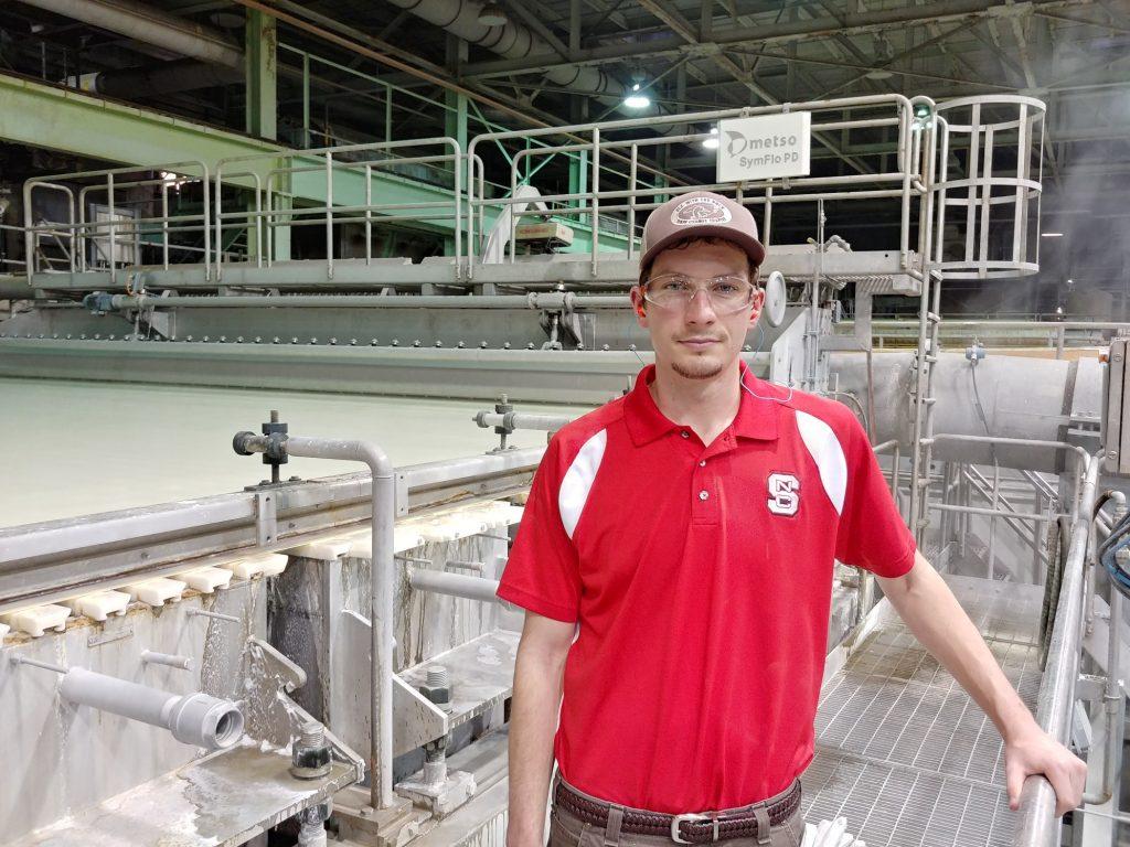 Dylan Tripp, Domtar intern turned engineer.