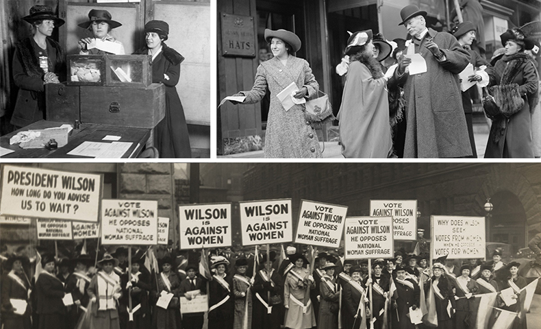 political change and the 19th Amendment allowed women the right to vote