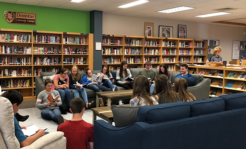 Johnsonburg pulp and paper mill created a Domtar Learning Lounge at a local school