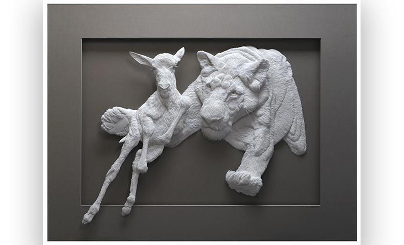 ZigZag by paper artist Calvin Nicholls