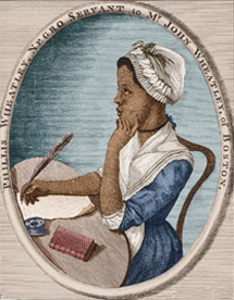 Black pioneers in American literature Phyllis Wheatley