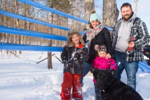 The Bellegarde family are maple syrup producers.