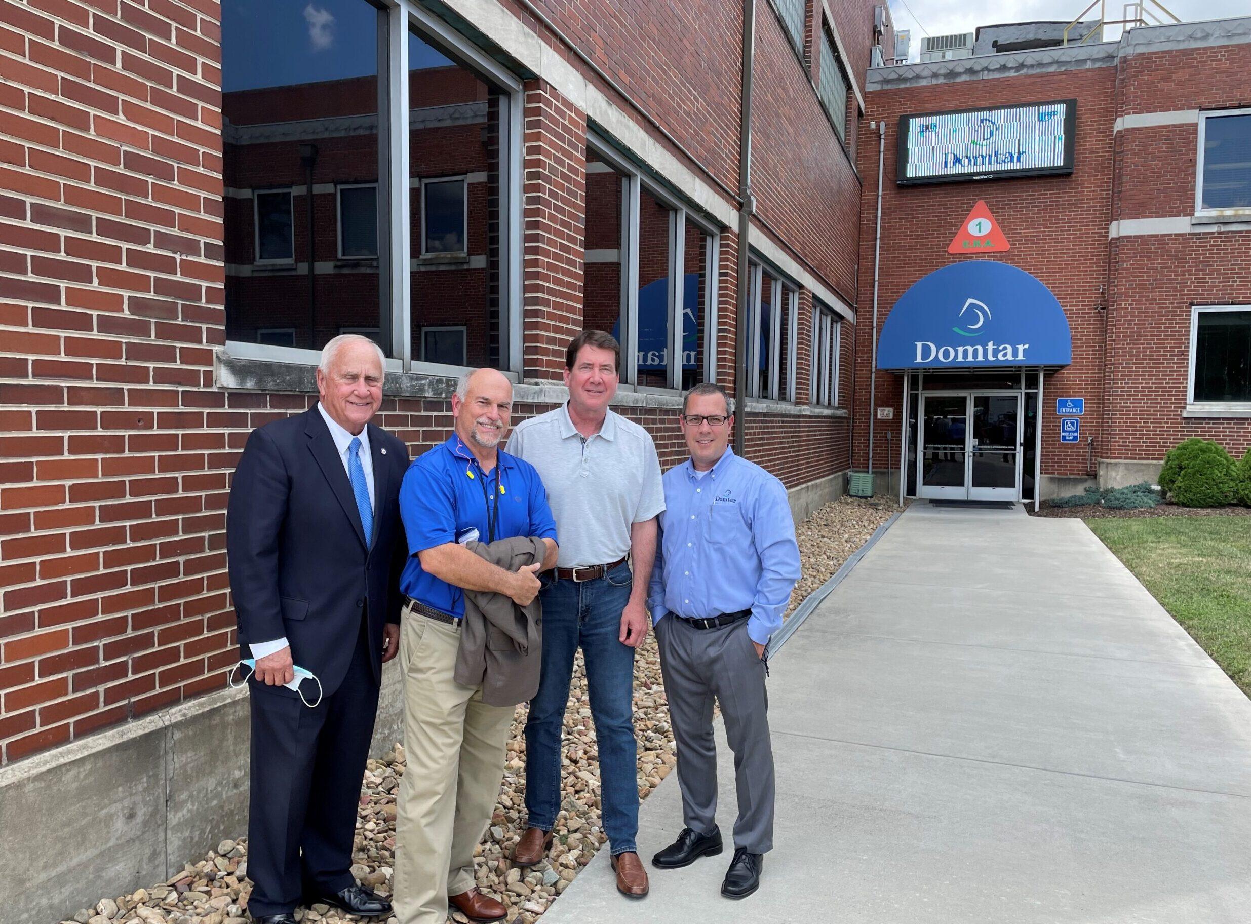 senator visits Kingsport Mill conversion site
